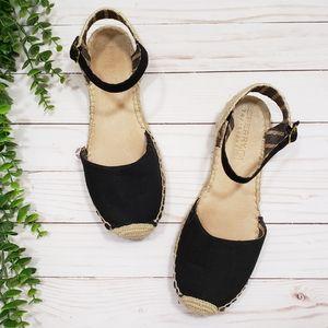 Sperry Top Sider Hope Espadrille Sandals Black